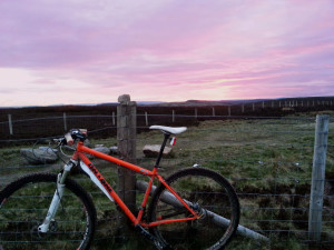 Sunset over Houndkirk Moor, Sheffield